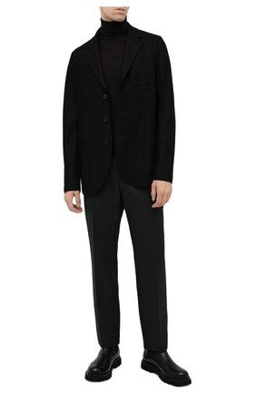 Мужской шерстяной пиджак HARRIS WHARF LONDON черного цвета, арт. C8B33MLX | Фото 2 (Материал внешний: Шерсть; Длина (для топов): Стандартные; Рукава: Длинные; Случай: Повседневный; 1-2-бортные: Однобортные; Пиджаки М: Прямой; Стили: Кэжуэл)