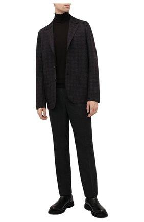 Мужской шерстяной пиджак HARRIS WHARF LONDON темно-бордового цвета, арт. C8B33MGK | Фото 2 (Материал внешний: Шерсть; Случай: Повседневный; 1-2-бортные: Однобортные; Пиджаки М: Прямой; Стили: Кэжуэл; Длина (для топов): Стандартные; Рукава: Длинные)