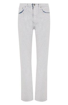 Женские джинсы MAISON MARGIELA белого цвета, арт. S51LA0149/S30561   Фото 1 (Длина (брюки, джинсы): Стандартные; Материал внешний: Хлопок; Стили: Спорт-шик; Кросс-КТ: Деним; Силуэт Ж (брюки и джинсы): Прямые)