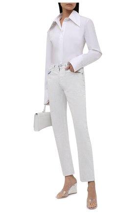 Женские джинсы MAISON MARGIELA белого цвета, арт. S51LA0149/S30561   Фото 2 (Длина (брюки, джинсы): Стандартные; Материал внешний: Хлопок; Стили: Спорт-шик; Кросс-КТ: Деним; Силуэт Ж (брюки и джинсы): Прямые)