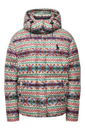 Женская пуховая куртка POLO RALPH LAUREN разноцветного цвета, арт. 211844806 | Фото 1 (Рукава: Длинные; Материал утеплителя: Пух и перо; Материал подклада: Синтетический материал; Материал внешний: Синтетический материал; Длина (верхняя одежда): Короткие; Стили: Спорт-шик; Кросс-КТ: Куртка; Женское Кросс-КТ: Пуховик-куртка)