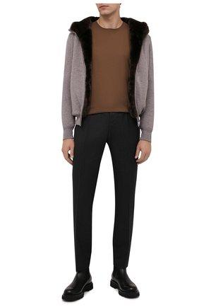 Мужской кашемировый бомбер с меховой подкладкой SVEVO бежевого цвета, арт. 0159SA21/MP01/2 | Фото 2 (Рукава: Длинные; Материал внешний: Кашемир, Шерсть; Длина (верхняя одежда): Короткие; Кросс-КТ: Куртка; Мужское Кросс-КТ: шерсть и кашемир, утепленные куртки; Принт: Без принта; Стили: Кэжуэл)