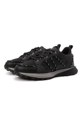 Мужские комбинированные кроссовки CANALI черного цвета, арт. 191219/RY00572 | Фото 1 (Материал внутренний: Натуральная кожа, Текстиль; Подошва: Массивная; Стили: Гранж)