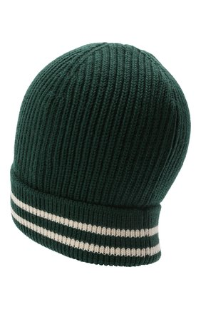 Мужская шерстяная шапка DOLCE & GABBANA зеленого цвета, арт. GX518Z/JBVF4   Фото 2 (Кросс-КТ: Трикотаж; Материал: Шерсть)
