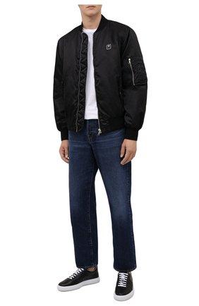 Мужские кожаные кеды LANVIN черного цвета, арт. FM-SKLS00-NAPA-A21 | Фото 2 (Материал внутренний: Натуральная кожа; Подошва: Массивная)