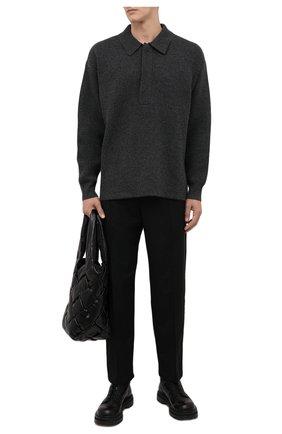 Мужской свитер ISABEL MARANT темно-серого цвета, арт. PU1695-21A060H/L0IS   Фото 2 (Длина (для топов): Стандартные; Рукава: Длинные; Материал внешний: Шерсть; Принт: Без принта; Мужское Кросс-КТ: Свитер-одежда; Стили: Минимализм)