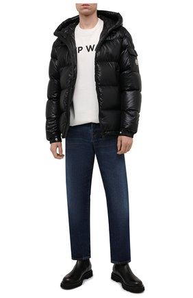 Мужская пуховая куртка ecrins MONCLER черного цвета, арт. G2-091-1A001-68-68950 | Фото 2 (Материал внешний: Синтетический материал; Материал подклада: Синтетический материал; Материал утеплителя: Пух и перо; Кросс-КТ: Куртка; Мужское Кросс-КТ: пуховик-короткий; Стили: Кэжуэл; Рукава: Длинные; Длина (верхняя одежда): Короткие)