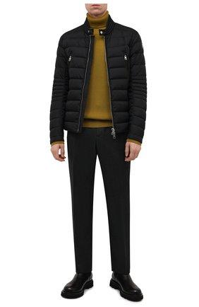Мужская пуховая куртка amiot MONCLER черного цвета, арт. G2-091-1A001-43-68352 | Фото 2 (Материал подклада: Синтетический материал; Длина (верхняя одежда): Короткие; Материал утеплителя: Пух и перо; Рукава: Длинные; Материал внешний: Синтетический материал; Кросс-КТ: Куртка; Мужское Кросс-КТ: пуховик-короткий; Стили: Кэжуэл)