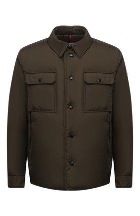 Мужская пуховая куртка miomandre MONCLER хаки цвета, арт. G2-091-1A001-09-68352 | Фото 1 (Материал утеплителя: Пух и перо; Материал подклада: Синтетический материал; Материал внешний: Синтетический материал; Кросс-КТ: Куртка; Мужское Кросс-КТ: пуховик-короткий; Стили: Кэжуэл; Длина (верхняя одежда): Короткие; Рукава: Длинные)