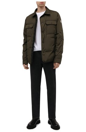 Мужская пуховая куртка miomandre MONCLER хаки цвета, арт. G2-091-1A001-09-68352 | Фото 2 (Материал утеплителя: Пух и перо; Материал подклада: Синтетический материал; Материал внешний: Синтетический материал; Кросс-КТ: Куртка; Мужское Кросс-КТ: пуховик-короткий; Стили: Кэжуэл; Длина (верхняя одежда): Короткие; Рукава: Длинные)