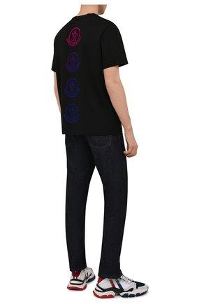 Мужская хлопковая футболка MONCLER черного цвета, арт. G2-091-8C000-33-829H8 | Фото 2 (Материал внешний: Хлопок; Длина (для топов): Стандартные; Рукава: Короткие; Принт: С принтом; Стили: Спорт-шик)