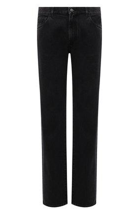 Мужские джинсы MONCLER темно-серого цвета, арт. G2-091-2A000-27-595JS | Фото 1 (Материал внешний: Хлопок; Длина (брюки, джинсы): Стандартные; Кросс-КТ: Деним; Силуэт М (брюки): Прямые; Стили: Кэжуэл)
