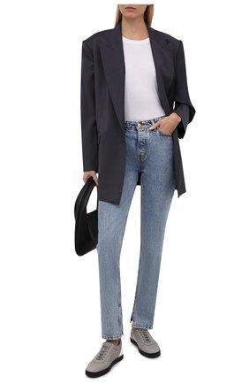 Женские текстильные кеды yuki GIORGIO ARMANI серого цвета, арт. X1X026/XD115 | Фото 2 (Материал внутренний: Натуральная кожа, Текстиль; Подошва: Платформа; Материал внешний: Текстиль)