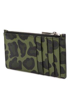 Мужской кожаный футляр для кредитных карт DOLCE & GABBANA зеленого цвета, арт. BP2527/AZ657 | Фото 2