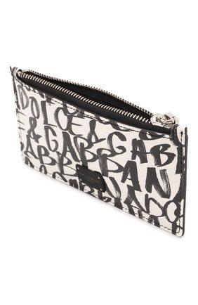 Мужской кожаный футляр для кредитных карт DOLCE & GABBANA белого цвета, арт. BP2527/AZ657   Фото 3