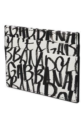 Мужской кожаный футляр для кредитных карт DOLCE & GABBANA черно-белого цвета, арт. BP0330/AZ657 | Фото 2