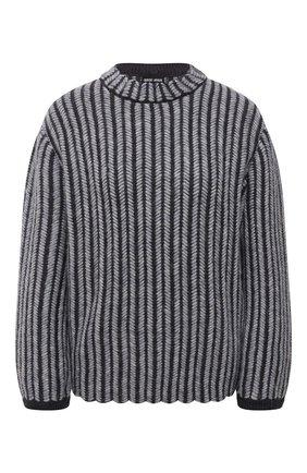 Женский свитер GIORGIO ARMANI темно-синего цвета, арт. 6KAM12/AM29Z | Фото 1 (Материал внешний: Шерсть; Рукава: Длинные; Длина (для топов): Стандартные; Стили: Кэжуэл; Женское Кросс-КТ: Свитер-одежда)