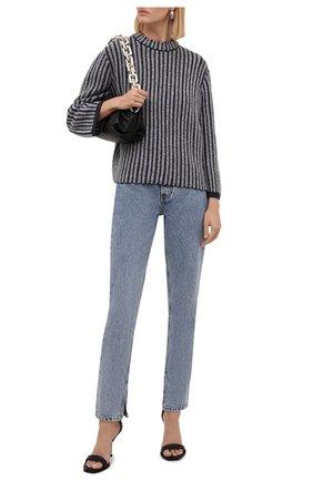 Женский свитер GIORGIO ARMANI темно-синего цвета, арт. 6KAM12/AM29Z | Фото 2 (Материал внешний: Шерсть; Рукава: Длинные; Длина (для топов): Стандартные; Стили: Кэжуэл; Женское Кросс-КТ: Свитер-одежда)