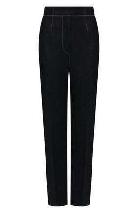Женские джинсы GIORGIO ARMANI темно-синего цвета, арт. 1WHPP0KS/T02KB | Фото 1 (Материал внешний: Хлопок; Длина (брюки, джинсы): Стандартные; Стили: Кэжуэл; Кросс-КТ: Деним; Силуэт Ж (брюки и джинсы): Прямые)