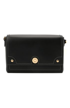 Женская сумка note small BURBERRY черного цвета, арт. 8044177 | Фото 1 (Размер: small; Материал: Натуральная кожа; Сумки-технические: Сумки через плечо)