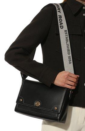 Женская сумка note small BURBERRY черного цвета, арт. 8044177 | Фото 2 (Размер: small; Материал: Натуральная кожа; Сумки-технические: Сумки через плечо)