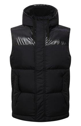 Мужской пуховый жилет HERNO черного цвета, арт. PI0792U/12220 | Фото 1 (Материал подклада: Синтетический материал; Материал утеплителя: Пух и перо; Материал внешний: Синтетический материал; Кросс-КТ: Куртка, Пуховик; Стили: Спорт-шик; Длина (верхняя одежда): Короткие)