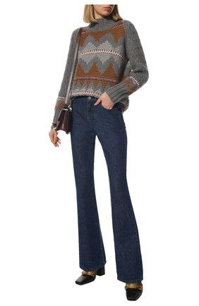 Женский кашемировый свитер LORO PIANA серого цвета, арт. FAL8381 | Фото 2 (Материал внешний: Кашемир, Шерсть; Стили: Кэжуэл; Длина (для топов): Стандартные; Женское Кросс-КТ: Свитер-одежда; Рукава: Длинные)