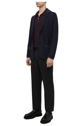 Мужской кардиган из шелка и кашемира LORO PIANA темно-синего цвета, арт. FAL7091 | Фото 2 (Материал внешний: Кашемир, Шелк, Шерсть; Длина (для топов): Стандартные; Рукава: Длинные; Мужское Кросс-КТ: Кардиган-одежда; Стили: Кэжуэл)