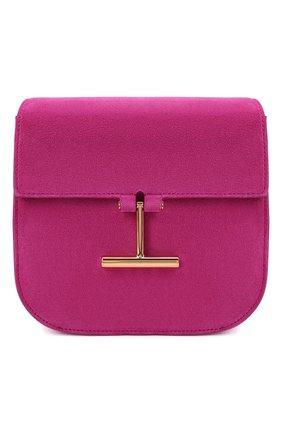 Женская сумка tara mini TOM FORD фуксия цвета, арт. L1502T-LCL209 | Фото 1 (Материал: Натуральная кожа, Натуральная замша; Размер: mini; Ремень/цепочка: На ремешке)