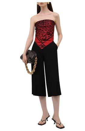 Женский шелковый платок DOLCE & GABBANA бордового цвета, арт. FN092R/G0TGK | Фото 2 (Материал: Текстиль, Шелк; Принт: С принтом)