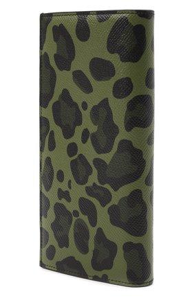 Мужской кожаное портмоне DOLCE & GABBANA хаки цвета, арт. BP2573/AZ657 | Фото 2