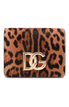 Женская сумка dg millennials DOLCE & GABBANA леопардового цвета, арт. BB7037/AQ291 | Фото 1 (Материал: Натуральная кожа; Размер: mini; Ремень/цепочка: На ремешке; Сумки-технические: Сумки через плечо)