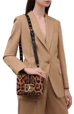Женская сумка dg millennials DOLCE & GABBANA леопардового цвета, арт. BB7037/AQ291 | Фото 2 (Материал: Натуральная кожа; Размер: mini; Ремень/цепочка: На ремешке; Сумки-технические: Сумки через плечо)