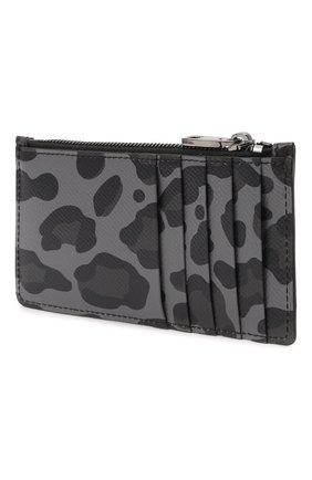 Мужской кожаный футляр для кредитных карт DOLCE & GABBANA темно-серого цвета, арт. BP2527/AZ657 | Фото 2