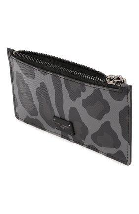 Мужской кожаный футляр для кредитных карт DOLCE & GABBANA темно-серого цвета, арт. BP2527/AZ657 | Фото 3