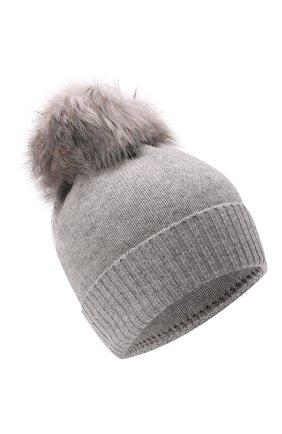 Детского шапка из шерсти и кашемира IL TRENINO светло-серого цвета, арт. 15 8637/2L | Фото 1 (Материал: Шерсть, Кашемир)