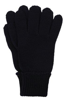 Детские шерстяные перчатки IL TRENINO темно-синего цвета, арт. 21 4055 | Фото 1 (Материал: Шерсть)