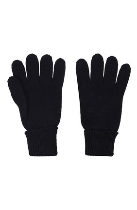 Детские шерстяные перчатки IL TRENINO темно-синего цвета, арт. 21 4055 | Фото 2 (Материал: Шерсть)