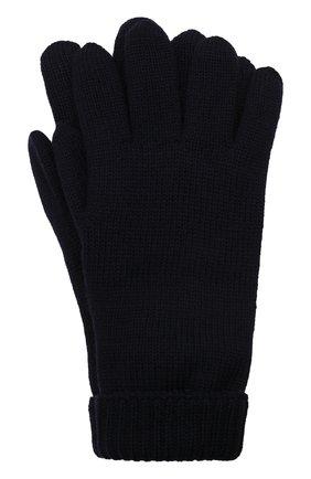 Детские шерстяные перчатки IL TRENINO темно-синего цвета, арт. 21 4063 | Фото 1 (Материал: Шерсть)