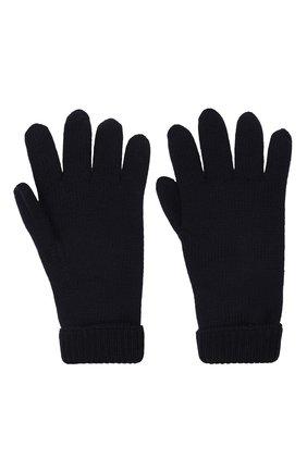 Детские шерстяные перчатки IL TRENINO темно-синего цвета, арт. 21 4063 | Фото 2 (Материал: Шерсть)