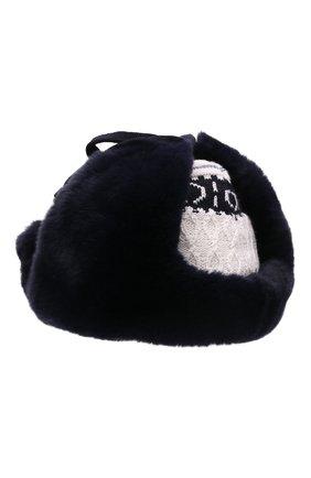 Детского шерстяная шапка-ушанка IL TRENINO разноцветного цвета, арт. 21 5611/ZL | Фото 2 (Материал: Шерсть)