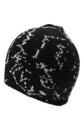 Детского шапка NEIL BARRETT KIDS черного цвета, арт. 28990   Фото 2 (Материал: Текстиль, Синтетический материал)