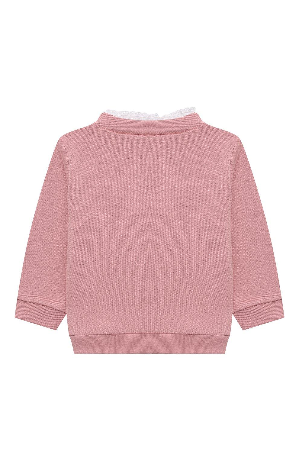 Детский хлопковый свитшот TARTINE ET CHOCOLAT светло-розового цвета, арт. TT15011/1M-1A   Фото 2 (Рукава: Длинные; Материал внешний: Хлопок)