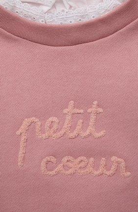 Детский хлопковый свитшот TARTINE ET CHOCOLAT светло-розового цвета, арт. TT15011/1M-1A   Фото 3 (Рукава: Длинные; Материал внешний: Хлопок)
