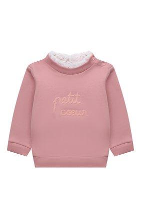 Детский хлопковый свитшот TARTINE ET CHOCOLAT светло-розового цвета, арт. TT15011/18M-3A | Фото 1 (Рукава: Длинные; Материал внешний: Хлопок)