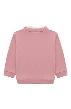 Детский хлопковый свитшот TARTINE ET CHOCOLAT светло-розового цвета, арт. TT15011/18M-3A | Фото 2 (Рукава: Длинные; Материал внешний: Хлопок)