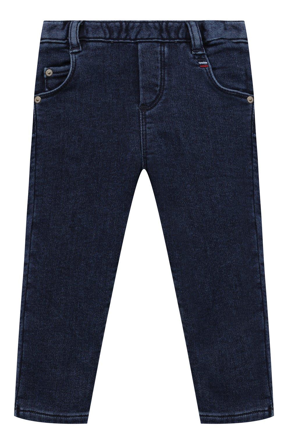 Детские джинсы TARTINE ET CHOCOLAT темно-синего цвета, арт. TT22081/1M-1A | Фото 1 (Материал внешний: Шерсть, Хлопок)