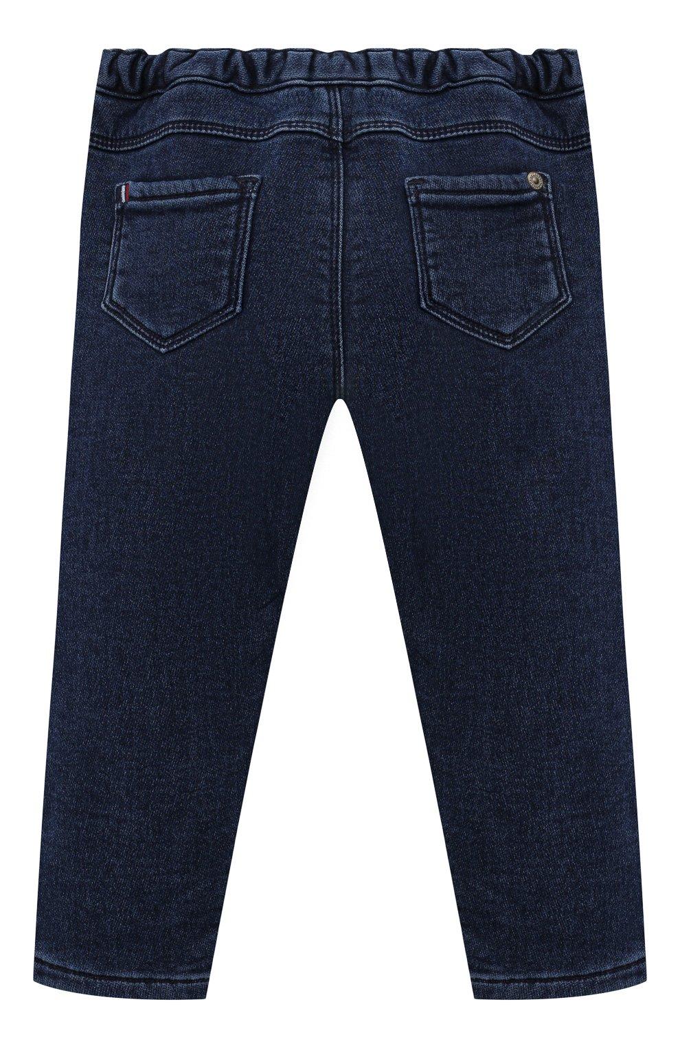 Детские джинсы TARTINE ET CHOCOLAT темно-синего цвета, арт. TT22081/1M-1A | Фото 2 (Материал внешний: Шерсть, Хлопок)