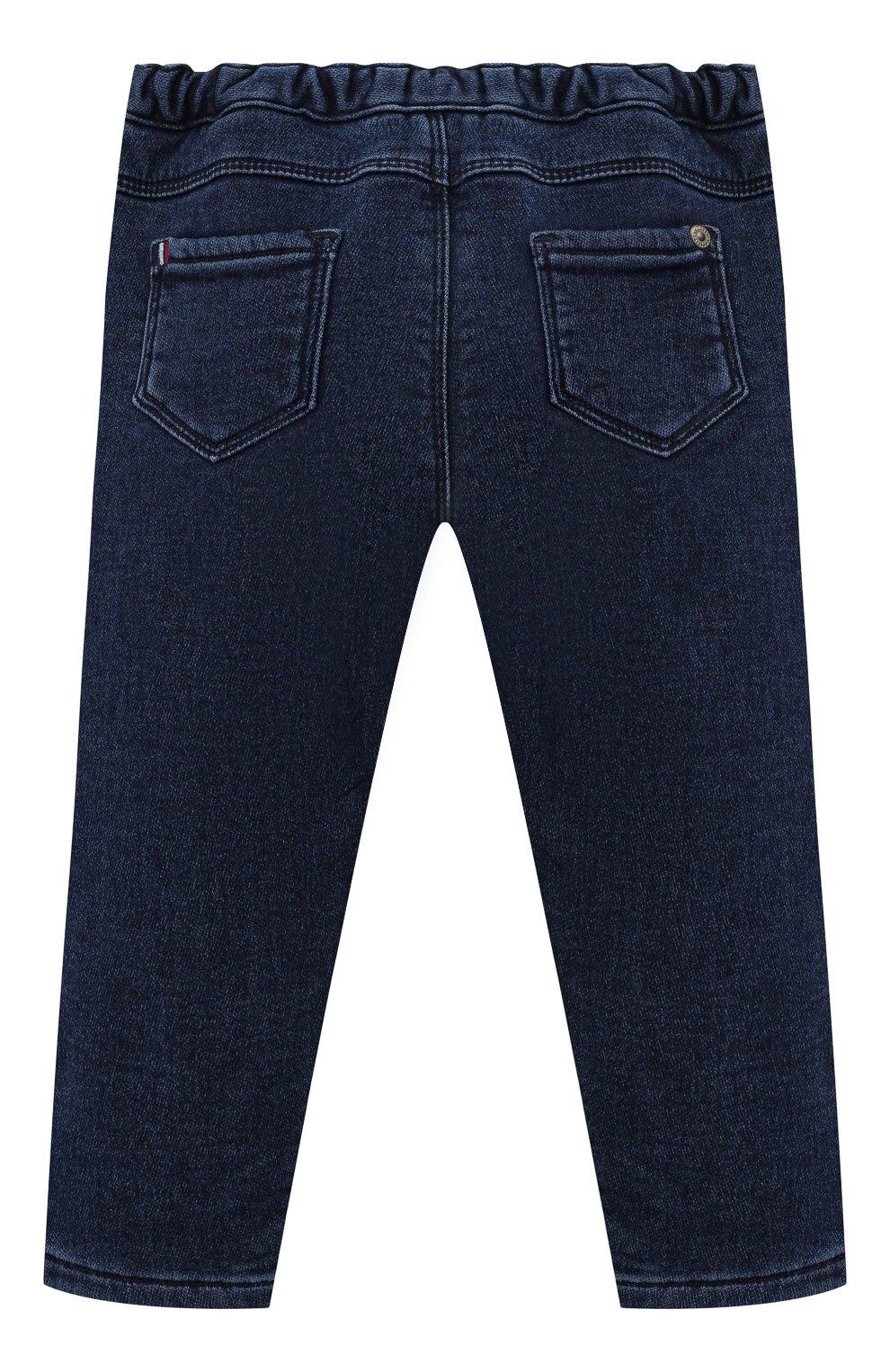 Детские джинсы TARTINE ET CHOCOLAT темно-синего цвета, арт. TT22081/18M-3A | Фото 2 (Материал внешний: Шерсть, Хлопок)