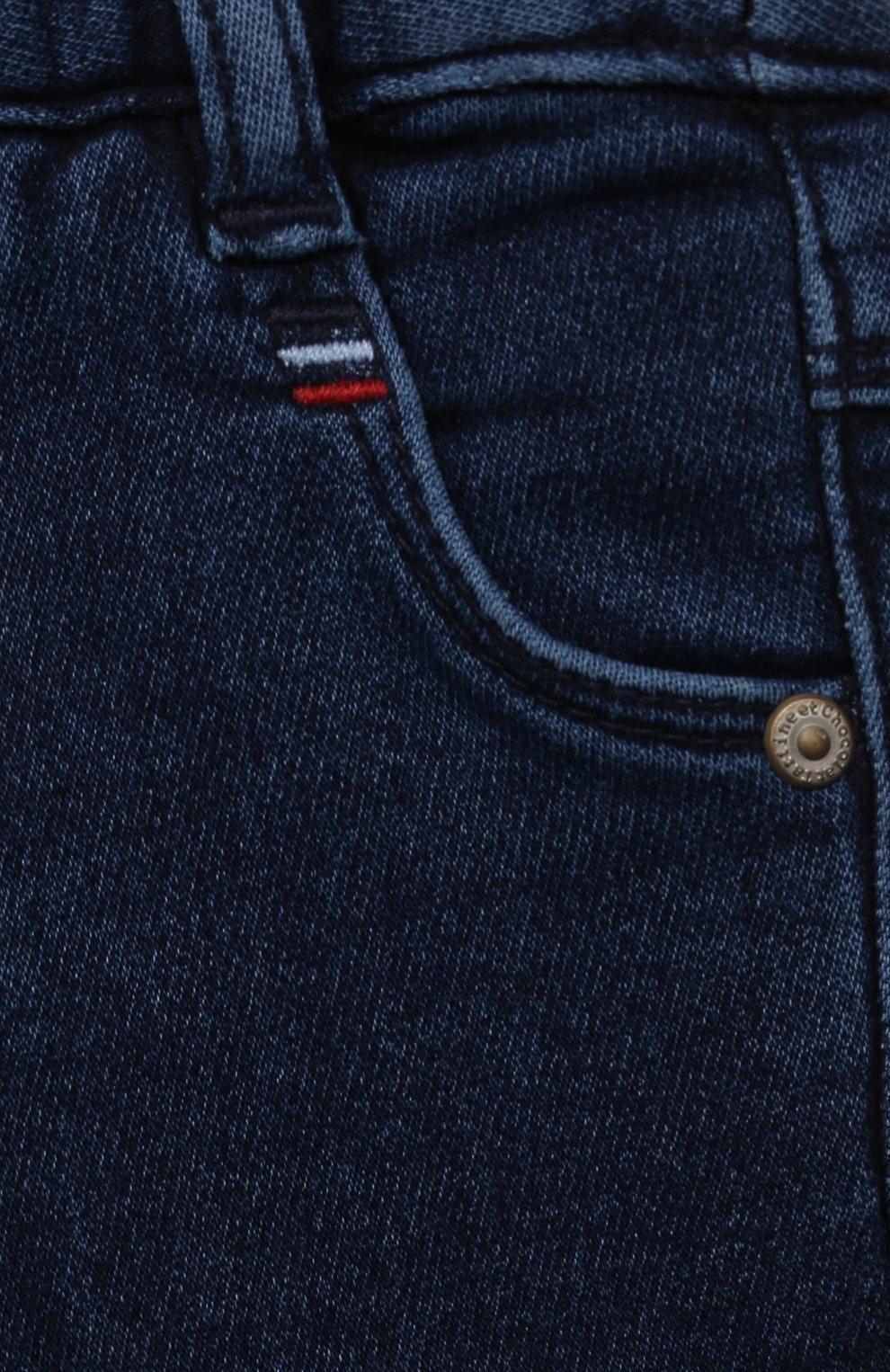 Детские джинсы TARTINE ET CHOCOLAT темно-синего цвета, арт. TT22081/18M-3A | Фото 3 (Материал внешний: Шерсть, Хлопок)